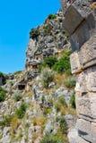 Lycian Rock Tomb, Necropolis in Myra Stock Photos