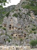 Lycian rock tombs Royalty Free Stock Images