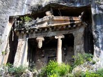 Lycian ruins in Turkey Royalty Free Stock Photography