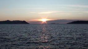 Lycian solnedgång och havet 3 lager videofilmer