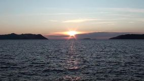 Lycian sunset and the sea 3 stock video footage