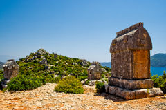 Lycian tomb Royalty Free Stock Images