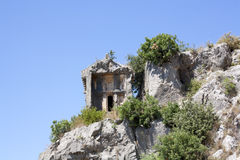 Lycian tomb Royalty Free Stock Photo