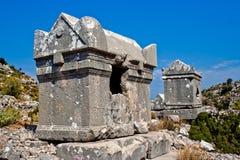 Lycian tomb Stock Photo
