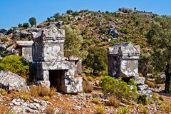 Lycian tomb Stock Photography