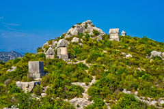 Lycian tomb Stock Photo