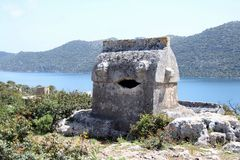 Lycian tomb Royalty Free Stock Photos