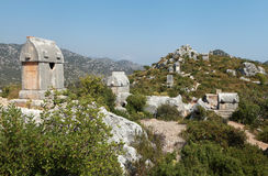 Lycian tomb in Kalekoy, Kekova. Royalty Free Stock Image