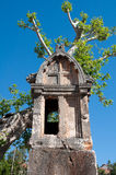 Lycian tomb in the village Kas (Turkey) Royalty Free Stock Images