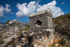 Lycian tomb in the village Sdima, Turkey Stock Photography