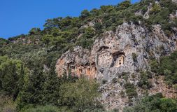 lycian tombs Royaltyfria Bilder