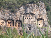 Lycian tombs Royalty Free Stock Photo