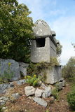 Lycian tombs Royaltyfria Foton