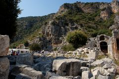 Lycian tombs Stock Photography