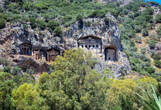 lycian tombs Arkivbild