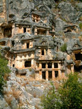 lycian tombs Arkivfoto