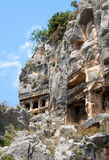 Lycian tombs. In Demre, Turkey Stock Images