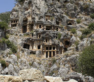 Lycian Tombs Royalty Free Stock Images