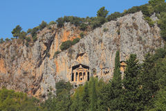 Lycian tombs in Dalyan Stock Images