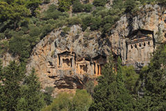 Lycian tombs in Dalyan Stock Photography