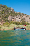Lycian tombs on the Dalyan River Stock Images