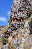 Lycian tombs Stock Photos