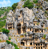 Lycian tombs in Demre Royalty Free Stock Images