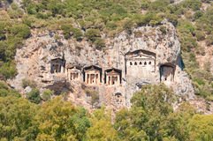 Lycian tombs  - Landmark Turkey Royalty Free Stock Image