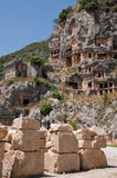 Lycian tombs in Myra, Demre, Turkey Royalty Free Stock Image