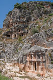 Lycian tombs in Myra, Demre, Turkey Royalty Free Stock Photo