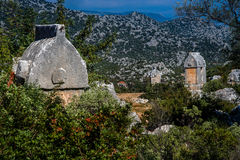 Lycian tombs of Simena Royalty Free Stock Photos