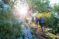 Lycian way. Beautiful nature landscapes in Turkey mountains. Lycian way is famous among hikers royalty free stock photos