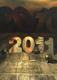 lyckönskan 2011 Arkivbild