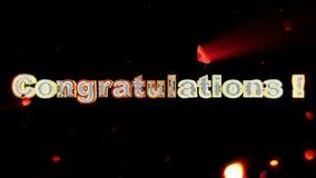 Lyckönskan betitlar och rosa hjärta som exploderar vektor illustrationer