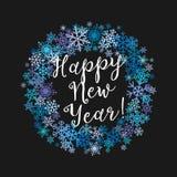 Lyckönskan för glad jul och för ett lyckligt nytt år royaltyfri illustrationer