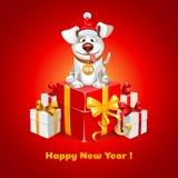 Lyckönskan för nytt år Arkivfoton