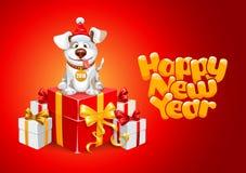 Lyckönskan för nytt år Arkivbilder