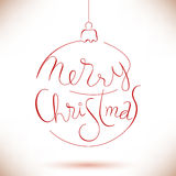 Lyckönskan i julboll vektor illustrationer