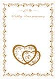 Lyckönskan på det 25th årsdagbröllopet Royaltyfri Foto