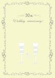 Lyckönskan till bröllopsdagen för 30 årsdag Royaltyfri Bild