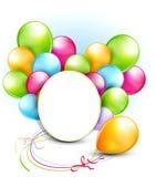 ballonger och en runda inramar stock illustrationer