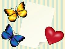 Lyckönsknings- bokstav. Valentin dag Royaltyfria Foton