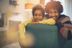 Lycka är att ha en familj arkivfoto