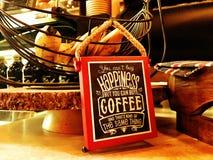 Lycka är kaffe royaltyfri bild