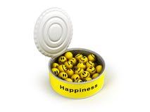 lycka öppnad på burk Fotografering för Bildbyråer