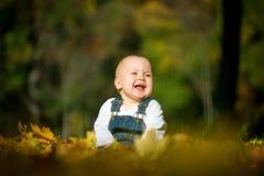 Lycka - behandla som ett barn i natur Royaltyfri Bild
