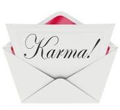 Lycka för Karma Invitation Letter Message Open kuvertgoda nyheter Arkivbild