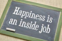 Lycka i ett inre jobb arkivbilder