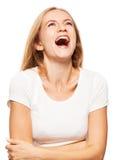 Lycka som ler kvinnlign royaltyfri fotografi