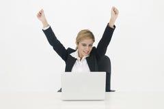 Lyckad affärskvinna arkivfoton